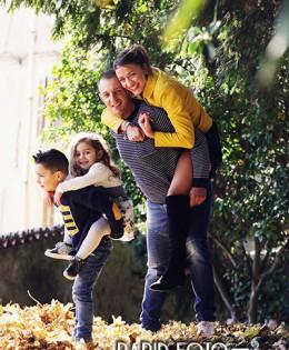 Mattia e Sofia con mamma e papà